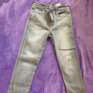 Gray high waisted Abercrombie & Fitch jeans